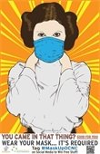 Princess Leia wearing a mask poster