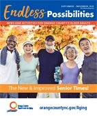 Endless Possibilities News and Activities for Orange County's Older Adults (the new and improved Senior Times) cover.
