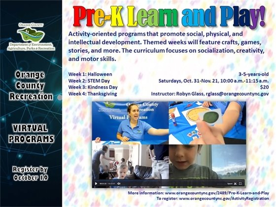 Pre-K Learn and Play - 3-5-years-old