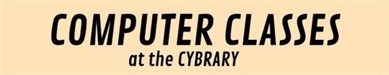 Free basic computer classes at the Cybrary