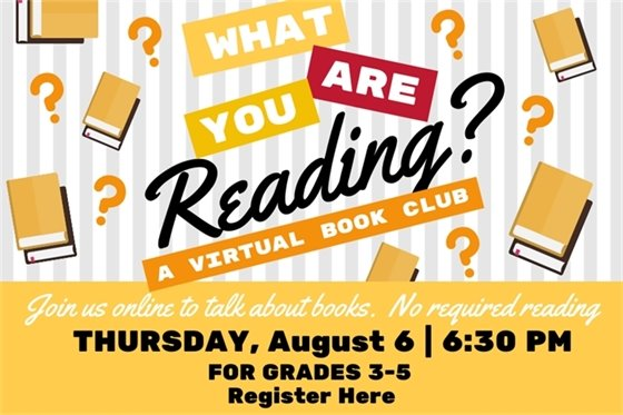 What are you reading? a book club for grades 3-5