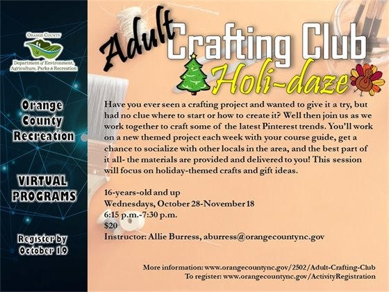 Adult Crafting Club - 16-years-old and up