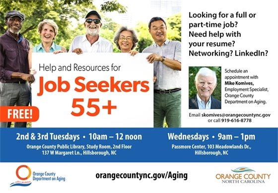 Job searching for those 55+