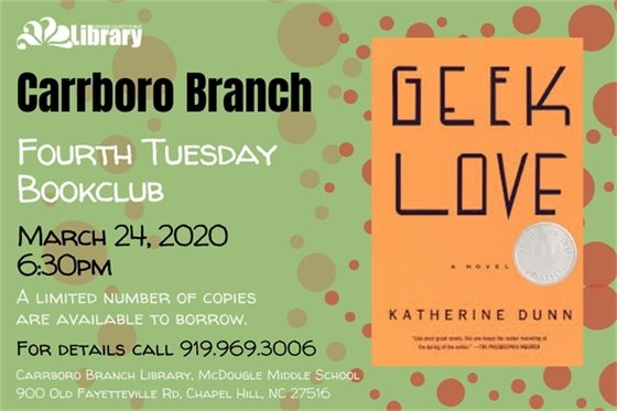 Join us in Carrboro for our monthly librarian-led book club.