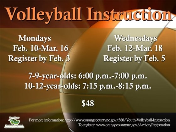 Instructional Volleyball for ages 7-12-years-old