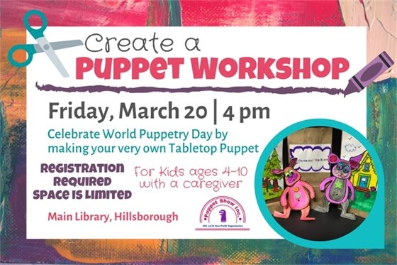 join us for a puppet workshop