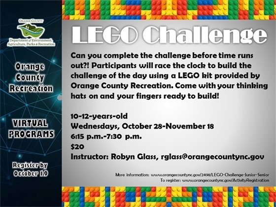 Lego Challenge - ages 10-12-years-old