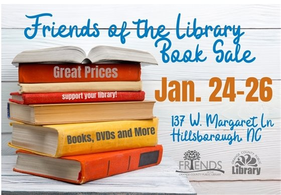 Graphic for Friends of the Library book sale