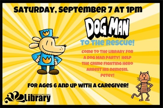 DogMan to the Rescue at the Main Library