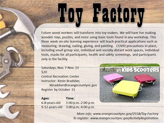Toy Factory - ages 6 to 12-years-old