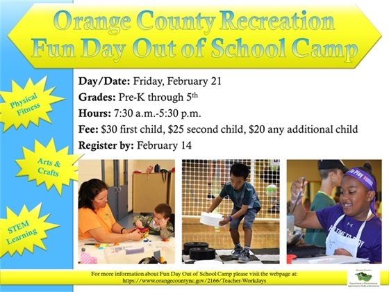 Out of School Camp Friday, February 21