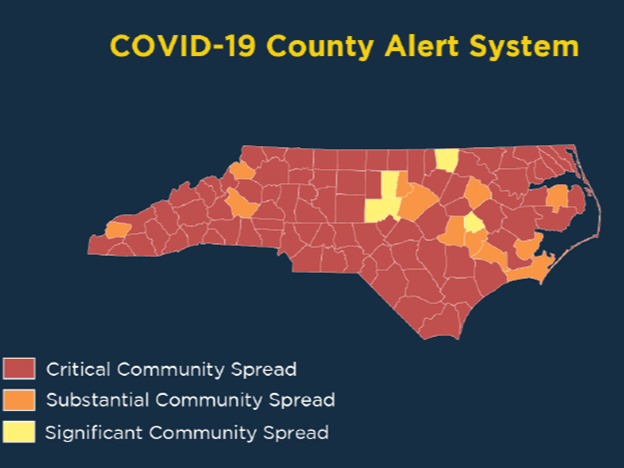 State Community Spread graphic