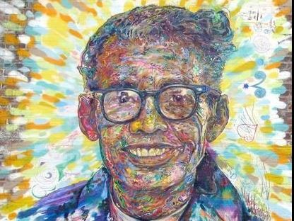 Painting of Pauli Murray
