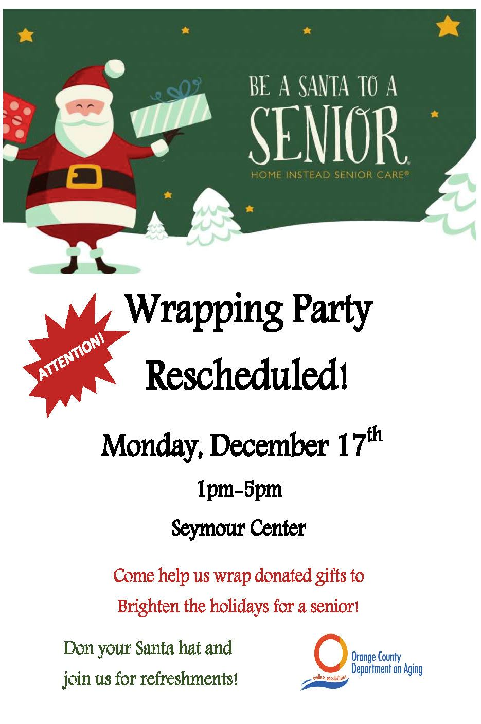 Wrapping Party Flyer