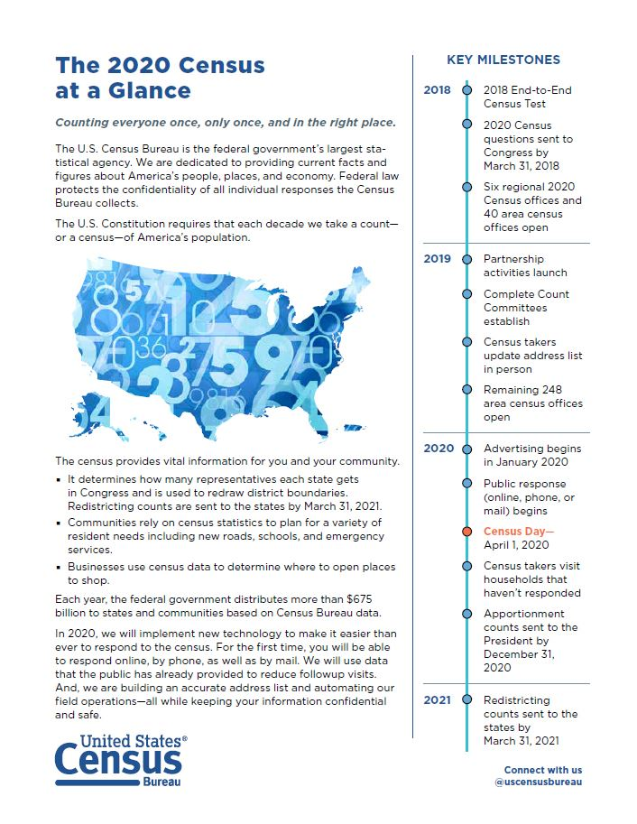 Census at a glance graphic
