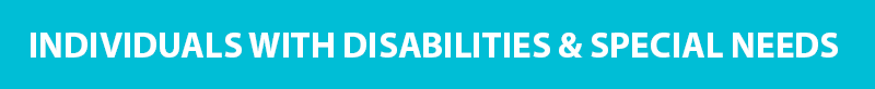 Individuals with Disabilities Banner