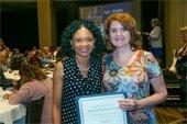 Photo of staff receiving award