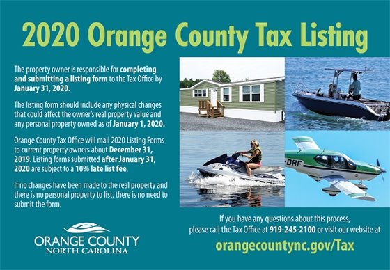 Orange County Tax Listing graphic