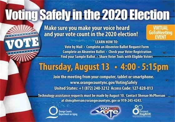 Voting Safely in the 2020 Election