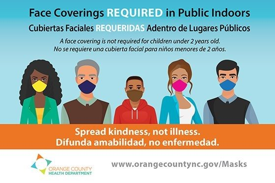 Face Coverings Required in Public Indoors