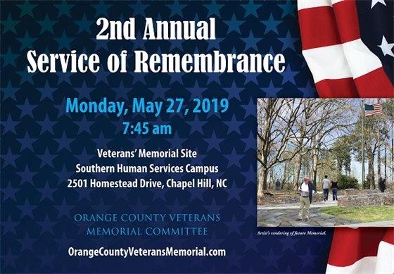 Veterans Memorial Memorial Day Event graphic