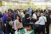 Job fair crowd