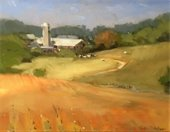 Graphic of Maple View Farm painting by Susan Paulsen