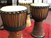 Image of three African drums.