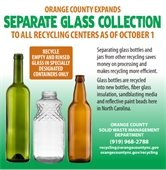 Orange County expands separate glass collection to all recycling centers as of October 1