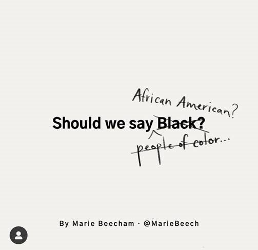 Should we say Black? African American? people of color...