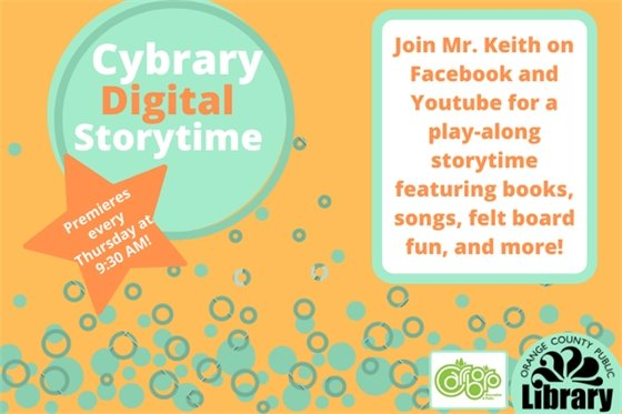 Storytime online! Click here to get the links from our website.