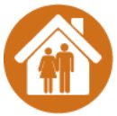 Image of two people inside a house
