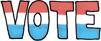 VOTE in red white and blue