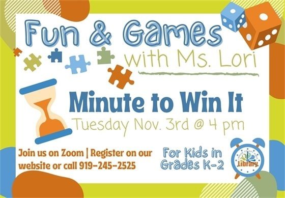 Fun and Games minute to win it graphic