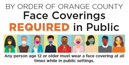 Orange County Face Coverings Requirement