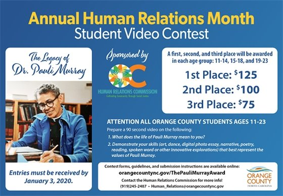 Pauli Murray Video Contest graphic
