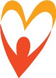 Orange County CARES logo (silhoette of person with arms in the shape of a heart).