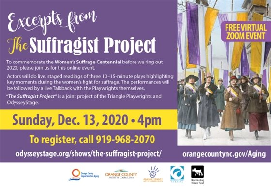 The Suffragist Project graphic