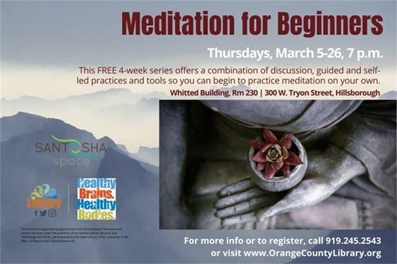 Learn to meditate this March