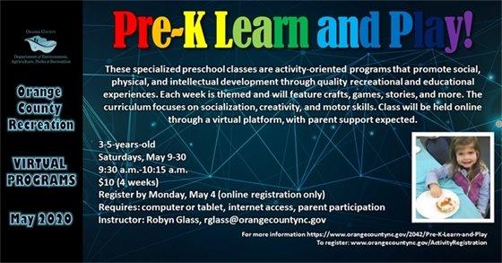 Orange County Recreation Pre-K Learn & Play