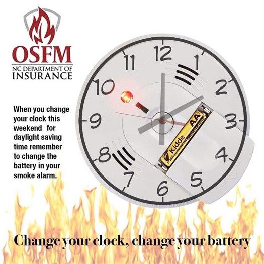 Daylight Savings Time Smoke Alarm reminder