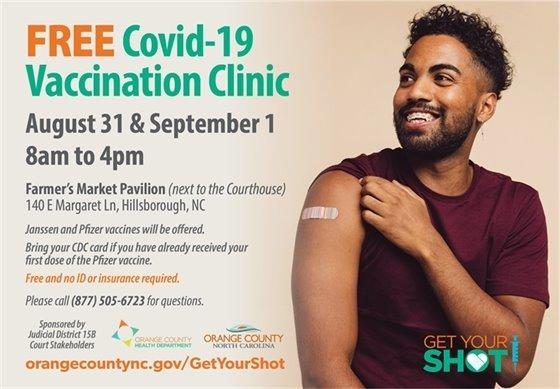 COVID vaccination clinic graphic