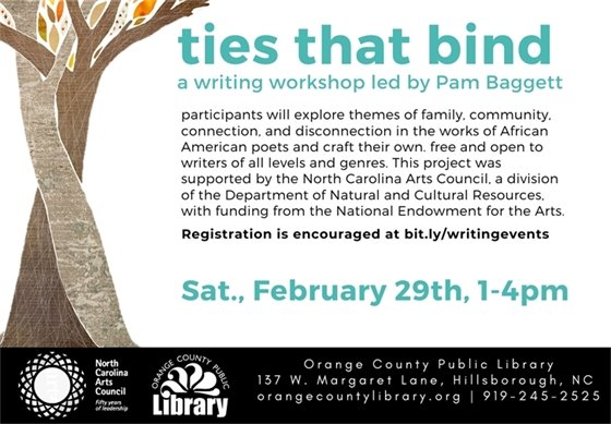 ties that bind writing workshop graphic