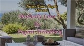 """Outdoor scene of porch and porch furniture. Text, """"Prime Time Players presents: Motherly Love by August Strindberg."""""""