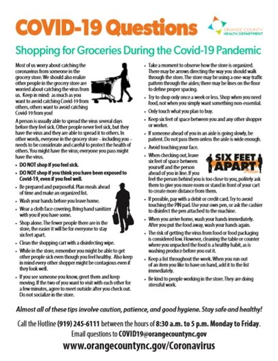 Shopping for Groceries During the COVID-19 Pandemic