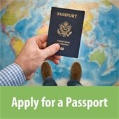 Apply for a Passport raphic