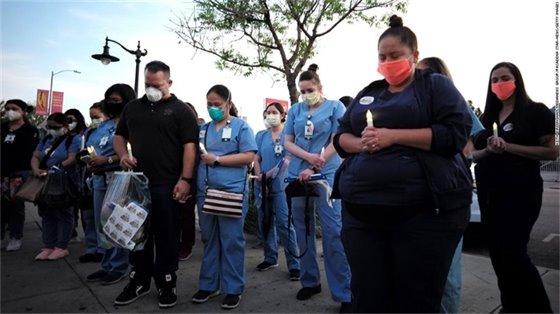 Nurses mourning