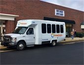 Photo of Orange County bus outside early voting site