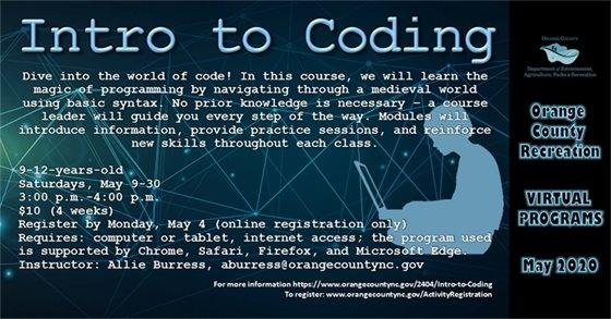 Orange County Recreation Intro to Coding