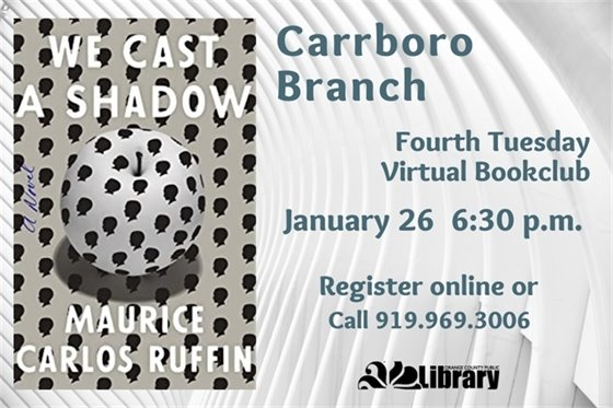Graphic of Carrboro Book Club.